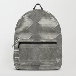 mudcloth diamonds - gray Backpack