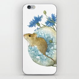 Field Mouse and Celestite Geode iPhone Skin