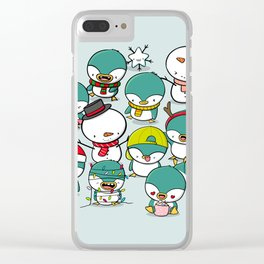 Kawaii Penguins Clear iPhone Case