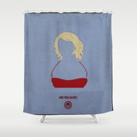 battlestar Shower Curtains featuring Caprica Six by PyroNipo