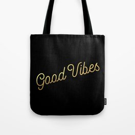 Good Vibes - Black and gold Tote Bag
