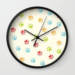 Animal Paw Prints 🐾 Wall Clock
