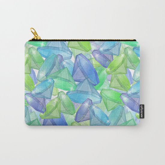 Placer precious stones, yellow , green , blue . Carry-All Pouch