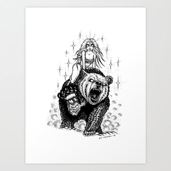 The marvelous couple Art Print