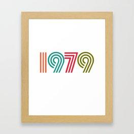 Vintage 1979 birthday birthday idea 40 years Framed Art Print