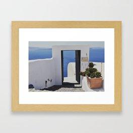 Doorway to the Caldera Framed Art Print