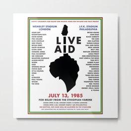 Live Aid 1985 Vintage JFK & Wembley Stadium Concert Festival Gig Advertising Music Poster Metal Print
