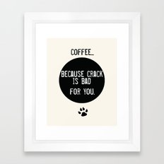 Coffee Art Print  and Crack Framed Art Print
