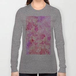 Girly Pink and Purple Painted Sparkly Watercolor Long Sleeve T-shirt