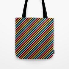 Diagonal Lines on Black Tote Bag