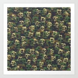 Skull Camo WOODLAND Art Print
