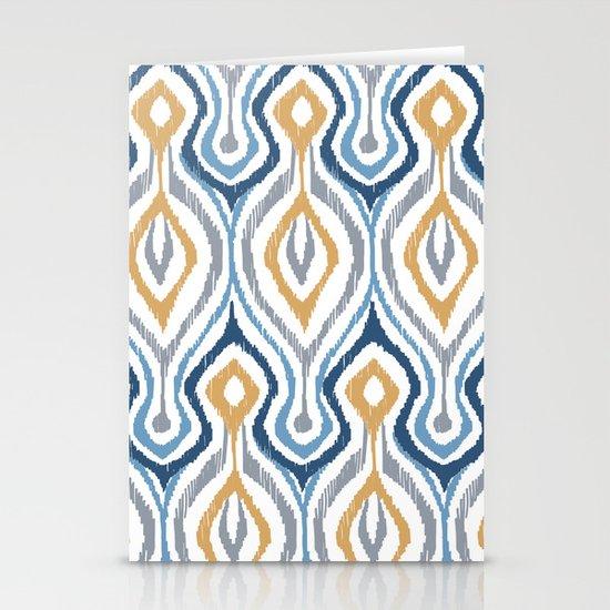 Sketchy Ikat - Saddle Stationery Cards