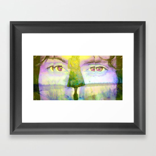 Disjointed Memory  Framed Art Print