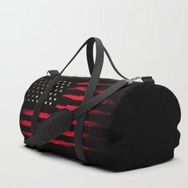 American flag Vintage Black Duffle Bag