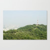 seoul Canvas Prints featuring Seoul by Anstey