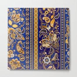 Boho Mhendi Pattern Metal Print