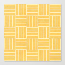 square lines - yellow Canvas Print
