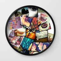 instagram Wall Clocks featuring Instagram  by Nic Moore
