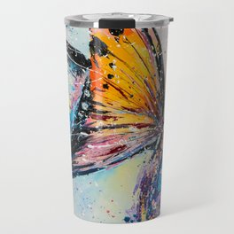 Butterfly on fiower Travel Mug