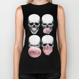 Skulls chewing bubblegum Biker Tank