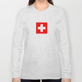 Swiss Cross - Swiss Flag Long Sleeve T-shirt