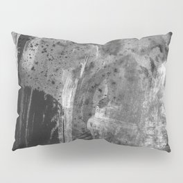 Shards // black and white abstract ink painting Pillow Sham