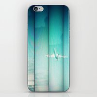 airplane iPhone & iPod Skins featuring Airplane by Joan Horne
