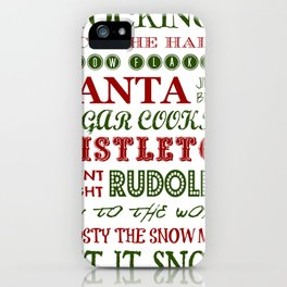 Subway Style Christmas Words 2 iPhone Case