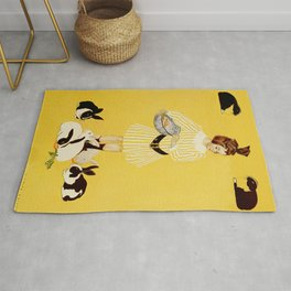 "C Coles Phillips 'Fadeaway Girl' ""A Friend of the Family"" Rug"