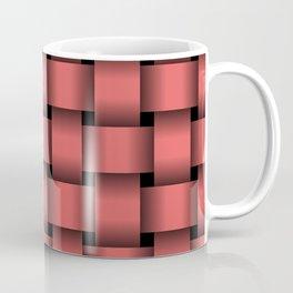 Large Light Red Weave Coffee Mug