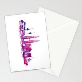 Kuala Lumpur skyline purple Stationery Cards