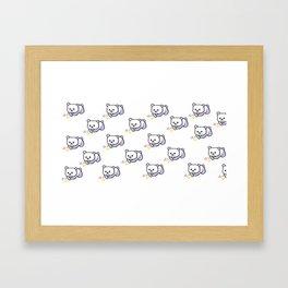 Flower Panda Pattern Framed Art Print