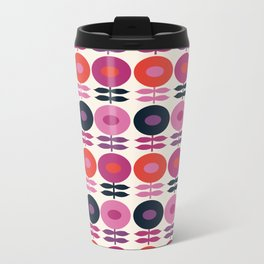 Good Vibes - floral flowers retro vintage style throwback 1970's inspired florals pattern Travel Mug