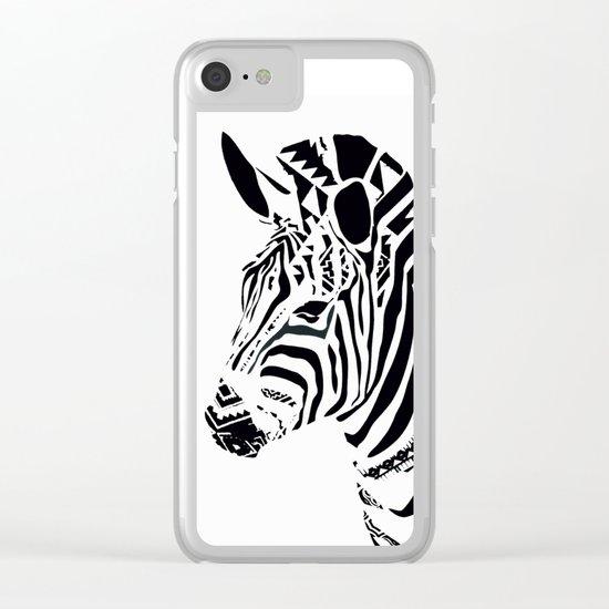 ZEBRA MOSAIC Clear iPhone Case