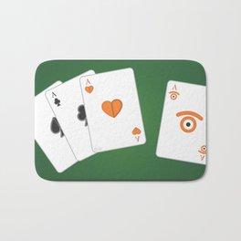 poker of glances Bath Mat
