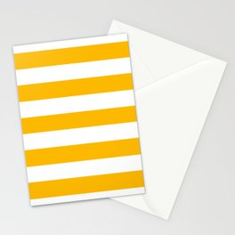 Microsoft yellow - solid color - white stripes pattern Stationery Cards