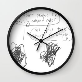 scribbles Wall Clock