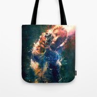 rick grimes Tote Bags featuring TwD Rick Grimes. by Emiliano Morciano (Ateyo)