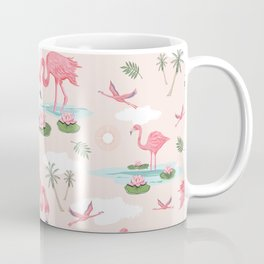 Flamingos and waterlilies Coffee Mug