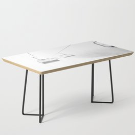 4 Seat Chair Lift Deep Snow B&W Coffee Table