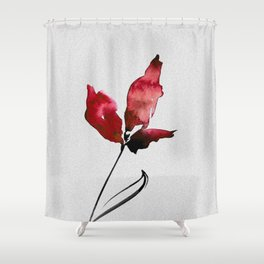 Floral Abstract No.2c by Kathy Morton Stanion Shower Curtain