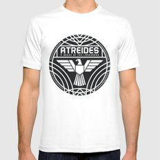 HOUSE ATREIDES BADGE Mens Fitted Tee White LARGE