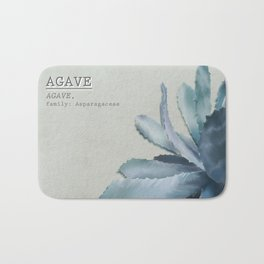 Agave, botanic print - green Bath Mat