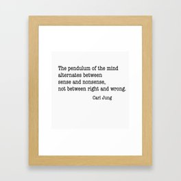 Carl Jung Pendulum Framed Art Print