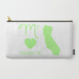 My Heart Belongs in California Carry-All Pouch
