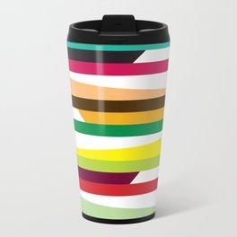 Geometric Pattern #73 (colorful stripes) Travel Mug