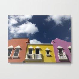 Caribbean colourful houses Metal Print