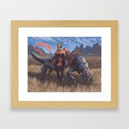 Magus Dragoon Framed Art Print