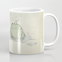 The frog under the rain Coffee Mug