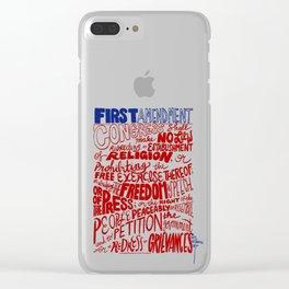 The First Amendment Clear iPhone Case